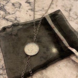 Sabika long teardrop necklace